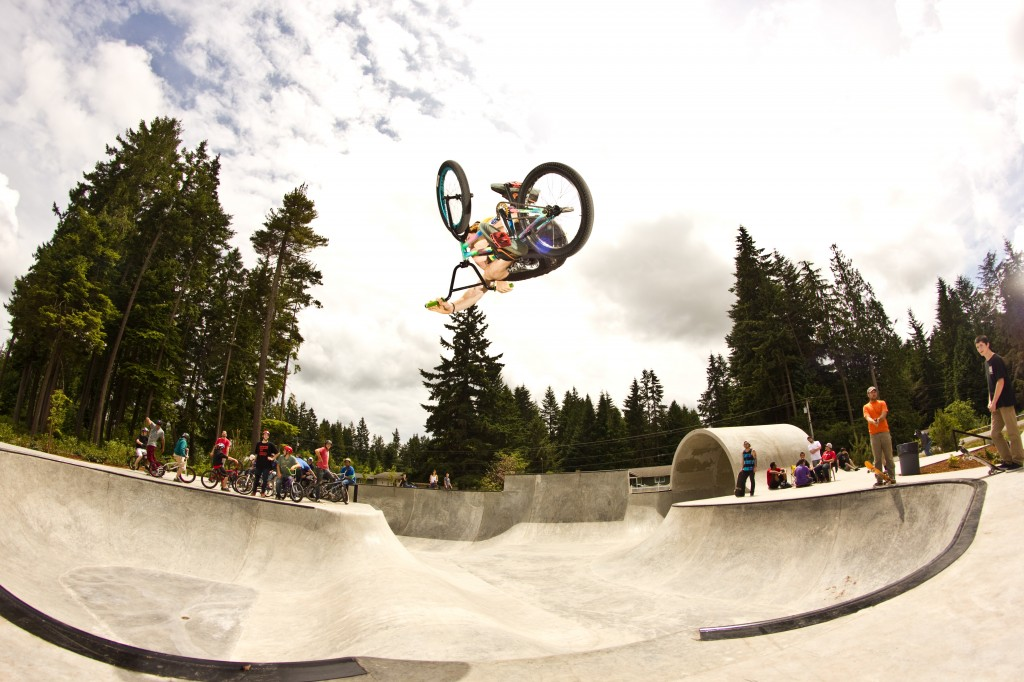 Jake Ortiz with a Beast Invert over an interesting hip in Port Orchard WA