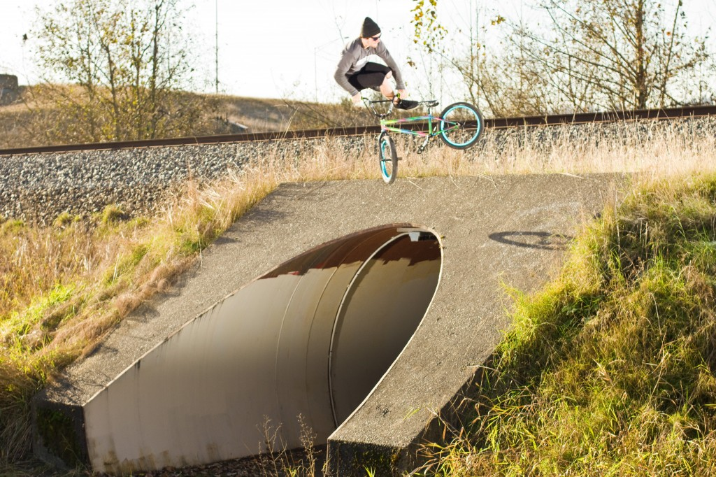 Jake Whip over an 8 foot Pedestrian under pass.